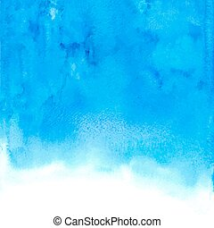 Vector blue abstract hand drawn watercolor background