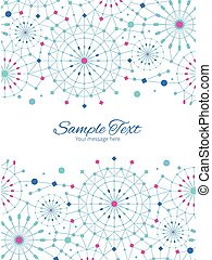 Vector blue abstract line art circles vertical double...
