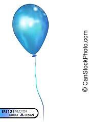 Vector blue air balloon . Eps10.