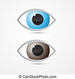 Vector Blue and Brown Eyes