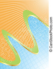 Vector blue and orange background