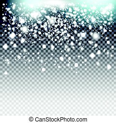 Vector blue and silver glitter particles background effect...