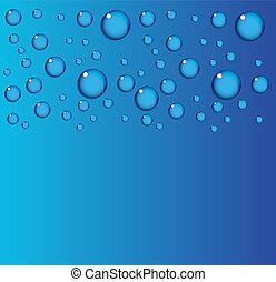 Vector blue aqua or water background