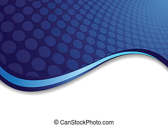 Vector blue background with circle