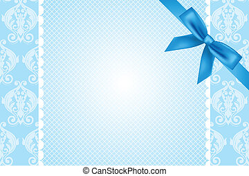 Vector blue background with lace an