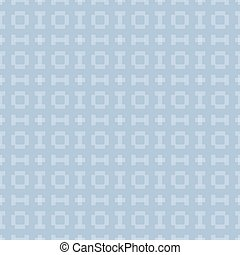 Vector blue background with seamless pattern