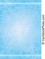 Vector blue background with snowfla