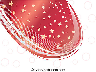 Vector blue background with star