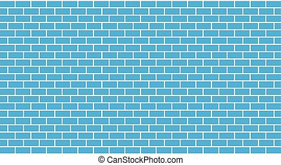 Vector blue brick wall