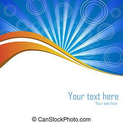 Vector blue burst background for poster