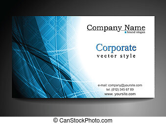 Vector blue business template
