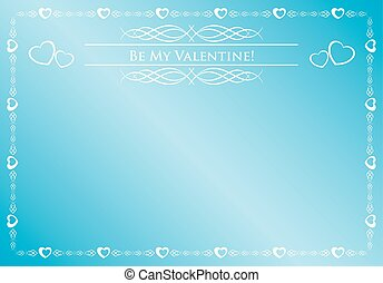 vector blue card - be my valentine