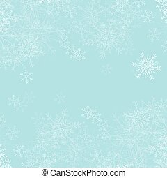 Vector blue Christmas background with white snowflakes.