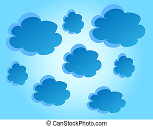 vector blue clouds