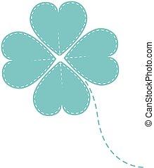 vector blue clover four leaf