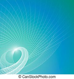 Vector blue contemporary background with abstract element