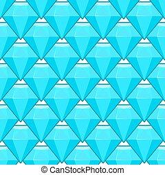 Vector blue diamonds seamless pattern