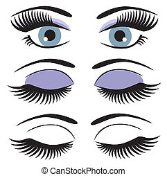 eyes - vector blue eyes