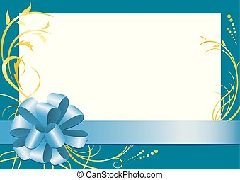 vector blue floral frame with white center