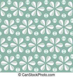 Vector blue floral seamless pattern, vintage background