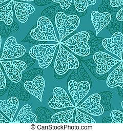 Vector blue flourish seamless pattern