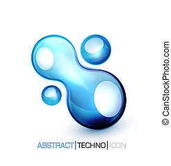Vector blue fluid concept - Blue abstract vector design...