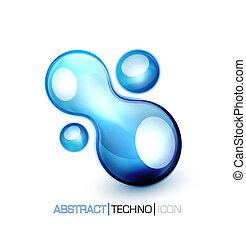 Vector blue fluid concept - Blue abstract vector design...
