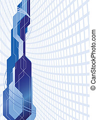 Vector blue futuristic background; clip-art