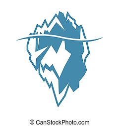 Vector blue iceberg icon on white background