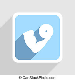 Vector blue icon on gray background. Eps10