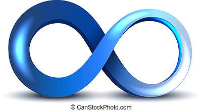 Infinity Symbol - Vector Blue Infinity Symbol on white ...