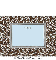 Vector Blue Ivy Pattern and Frame