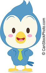 Vector Blue Jay Illustration character collection stock