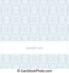 Vector blue lace card or invitation