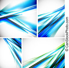Vector blue line backgrounds
