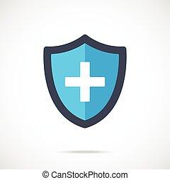 Vector blue medical shield icon