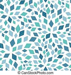 Vector blue mosaic texture seamless pattern background