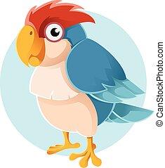 Vector blue parrot