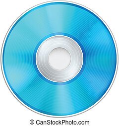 Vector Blue Realistic CD Disk