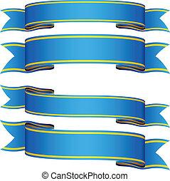 vector blue ribbons