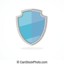 Vector blue shield