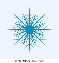 Vector blue snow flake