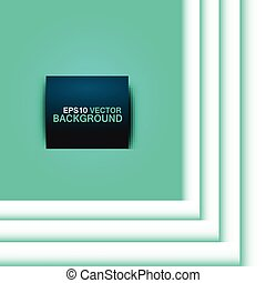 vector blue square with stripes on a white background