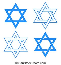 star of david symbol - vector blue star of david symbol...