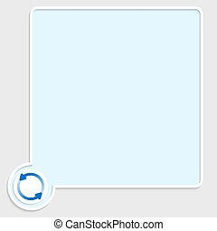 vector blue text box with arrows