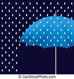 Vector blue umbrella.