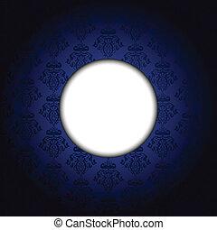 Vector blue & white frame