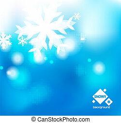vector blue winter abstract backround - Vector blue abstract...