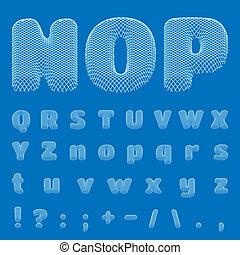 Vector BluePrint Alphabet, eps10