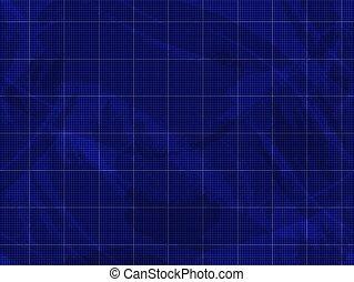 Vector Blueprint Grunge Background, Blue Texture, Seamless Pattern.